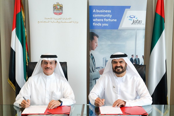 The Memorandum was signed at Jafza head office by Dr. Amin Hussein Al Amiri, assistant under secretary of Public Health and Licensing Policy at the Ministry of Health and Protection and Mohammed Al Muallem, CEO Jafza and senior vice president and general manager of DP World, UAE Region.