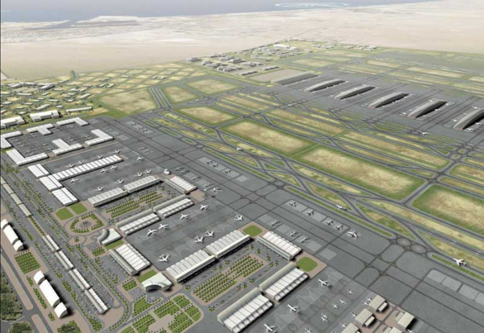 The first flights from DWC may be delayed beyond June 2010.
