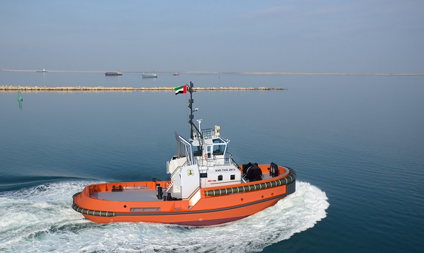 The vessel will be built a short distance away at Albwardy Damen in Sharjah and will be delivered in time for the opening of the new bulk terminal at Saqr Port in mid-2018.