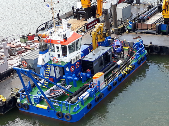 Damen has fitted the vessel out with a Damen DOP Submersible Dredge Pump 250.