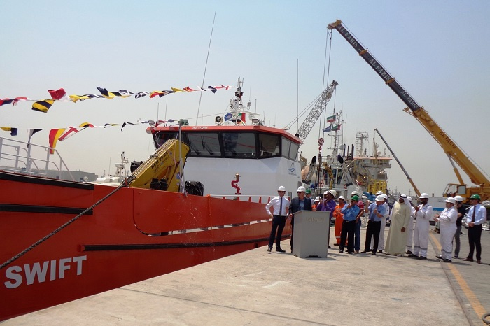 Damen Shipyards Group has delivered a Damen Fast Crew Supplier (FCS) 2610 workboat to Atlantic Maritime Group in the UAE.