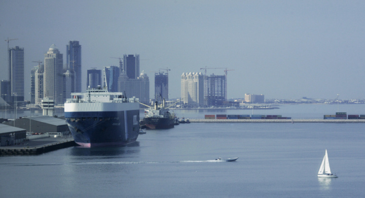 Doha Port is suffering from severe congestion. Courtesy of AFP/Getty.