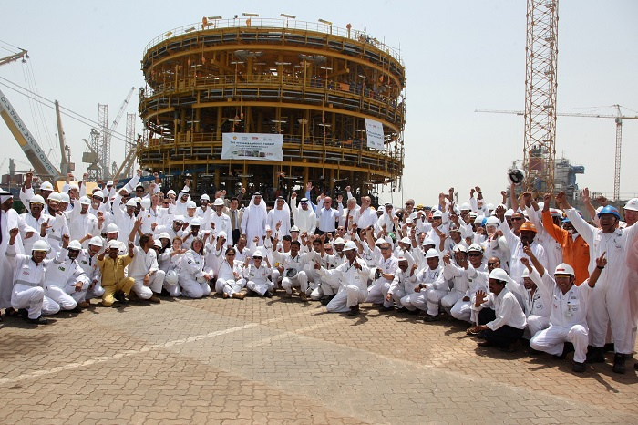 Drydocks World has completed construction of the largest turret mooring system ever built, for the largest FLNG project ever conceived.