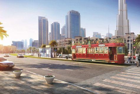 Dubai Trolley operates in the Downtown Dubai area.