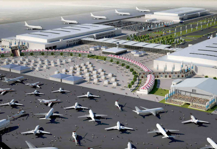An artists impression of Dubai World Central's new infrastructure.