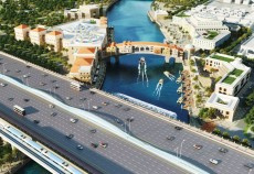 Dubai water canal project.