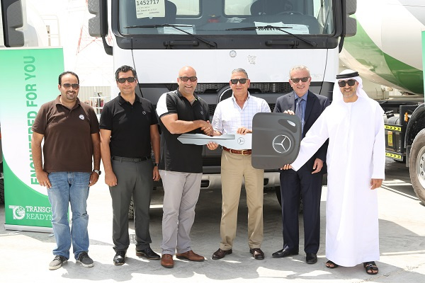EMC officially handed the fleet of trucks over to the Abu Dhabi-based firm Wednesday in what is one of the largest deals of its kind in the UAE.