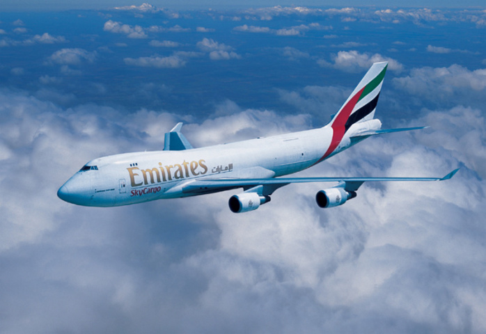 Emirates Sky Cargo operates 15 freighters – 13 Boeing 777-Fs and two B747-400ERFs.