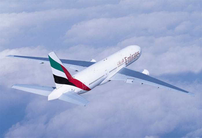 The Dubai-Cape Town route is normally serviced by a B777.
