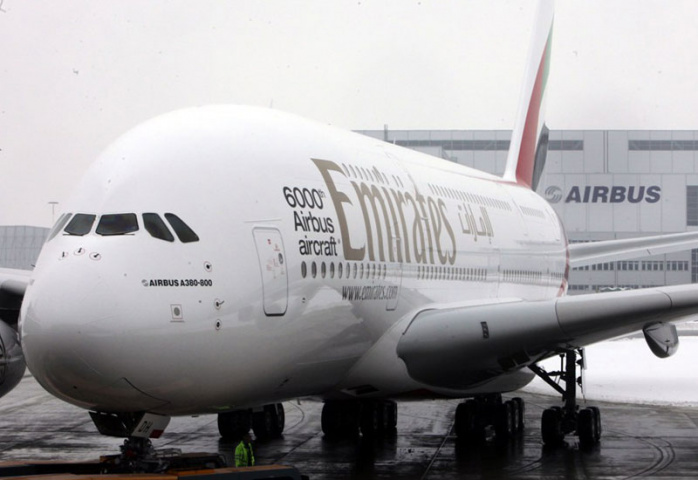 Emirates flight EK405 bound for Dubai and Scoot flight TZ188 bound for Tianjin in China collided while the A380 was being pushed back from the terminal.