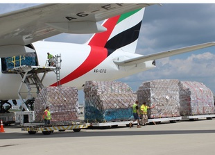 Emirates SkyCargo operates a weekly capacity of over 580 tonnes through 18 flights including four weekly freighter services.
