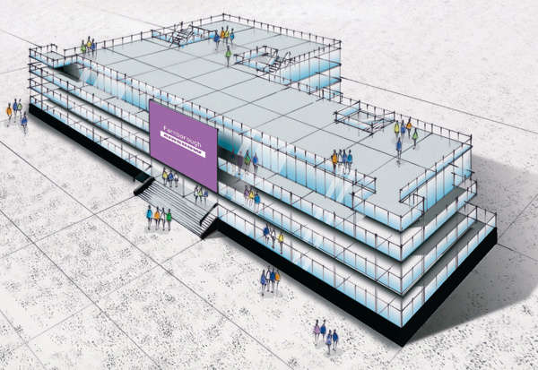 NEW BASE: Exhibitors at this year?s Farnborough Airshow will showcase their services at the FIVE building.