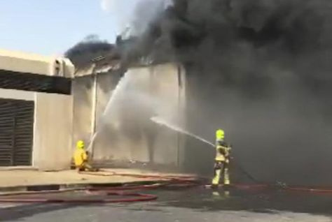 A fire broke out at a warehouse next to a Toyota Service Centre in Al Quoz in Dubai on Monday, Dubai Police have reported (Image illustrative).