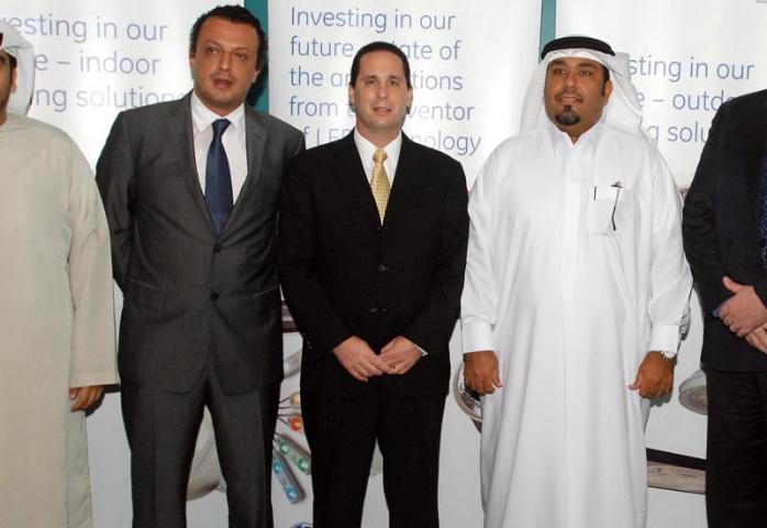 L to R Khaled Al Boom (DED) with GE's Tamer Al Shaer and John Lancia, and Dubai FDI's Hamad Saleh Alabdooli and David Harris