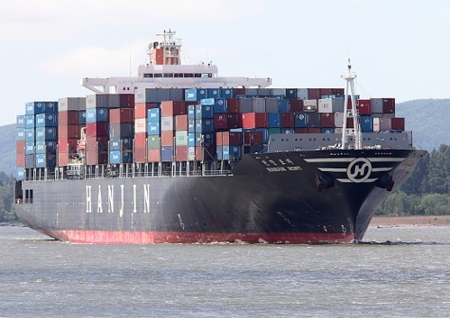 The container ship has been sitting off the eastern coast of Singapore for more than a month.