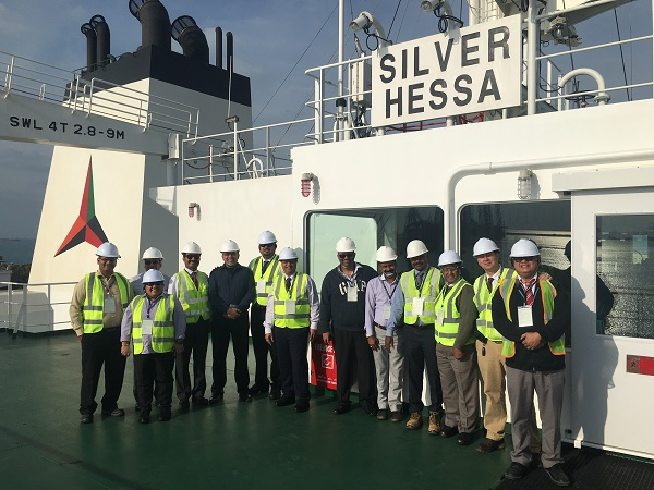 Silver Hessa was visited by a management team from Tristar and Eships at Port Khalid in Sharjah.