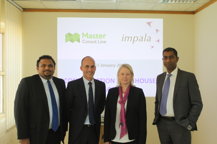 Pauline Daly, Regional Managing Director – Impala Terminals Middle East & Africa (second from right).