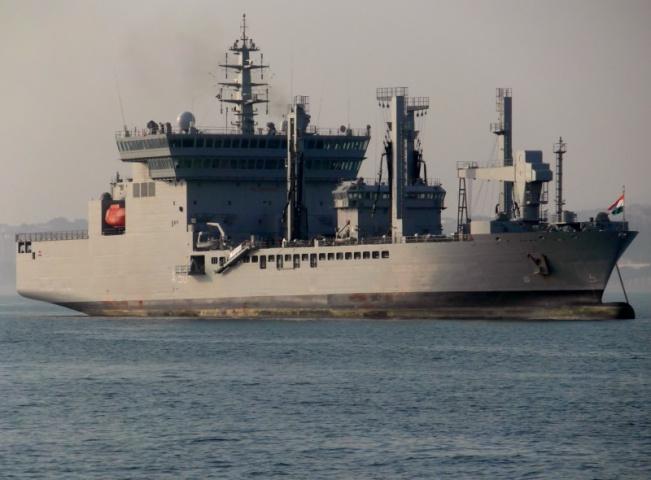 INS Deepak is one of four fleet tankers in the Indian Navy.