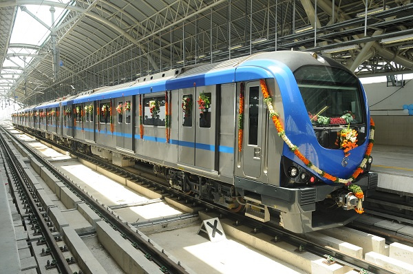 Alstom's first metro in India entered service in the city of Chennai on the first phase of line 2 from Koyambedu to Alandur.