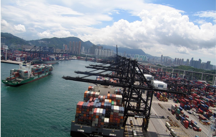 A general view of the Hong Kong Kwai Chung container terminal Chinas emergence as a global shipping power has seen Shanghai consolidate its position as the worlds busiest container port ahead of Singapore while Shenzhen looks set to overtake Hong Kong as the third busiest in a matter of months Shanghai which regained the lead as the worlds busiest container port in April saw container throughput rise 226 last month to 256 million