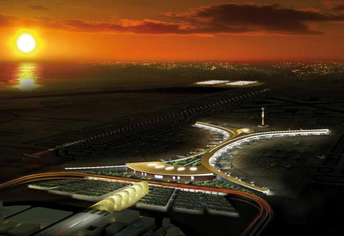 An architect's impression of the rebuilt King Abdulaziz International Airport in Jeddah.