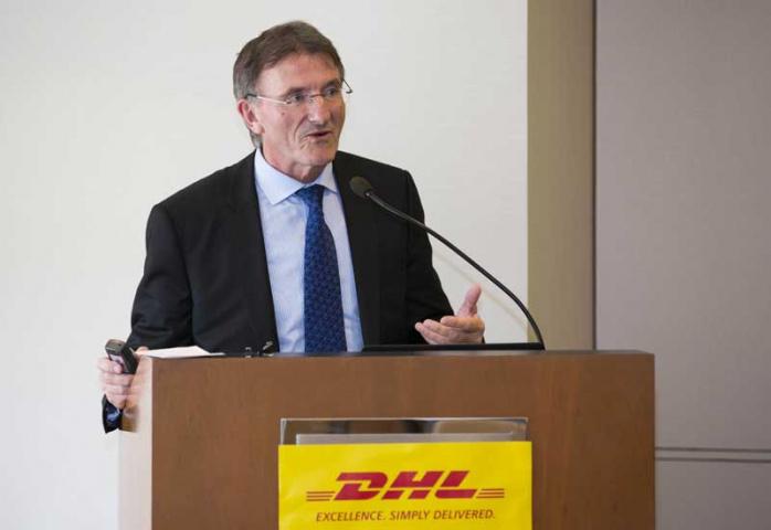 Ken Allen, CEO, DHL Express, speaking at the event.