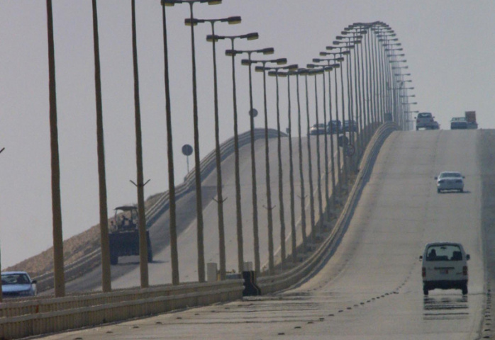 The King Fahd Causeway, which links Bahrain to Saudi Arabia, pictured in 2017, before major renovations.