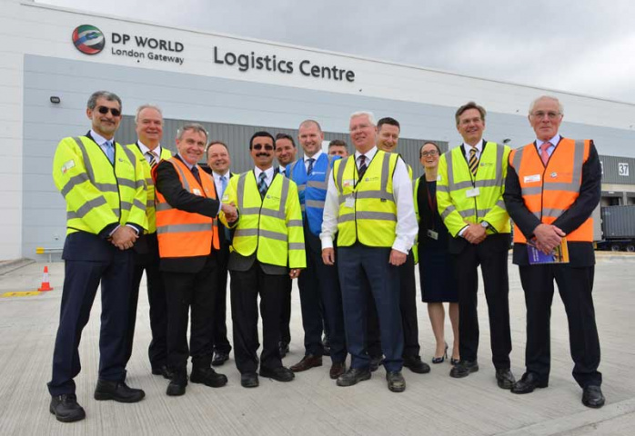 The official launch of the new logistics centre.