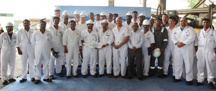 Steel cutting ceremony held in Dubai for first LNG-powered tug in the Middle East