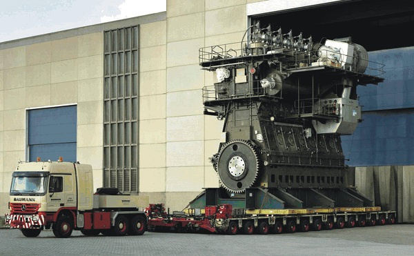 The largest marine engine is produced by Wartsila