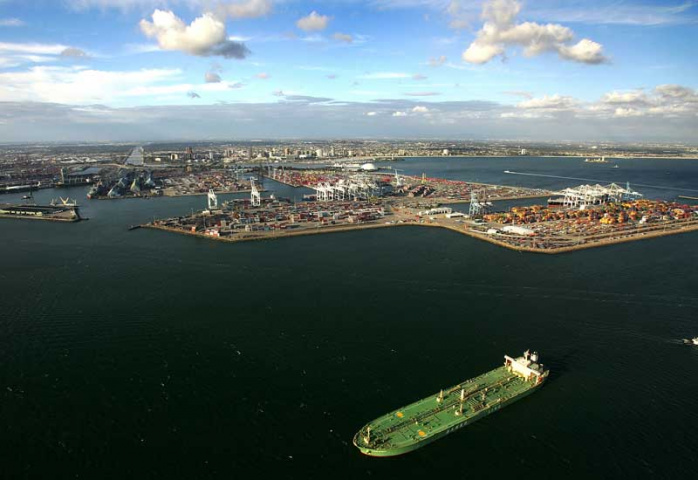 The port of Long Beach in California, one of the facilities surveyed by IHS Global Insight's Port Tracker.