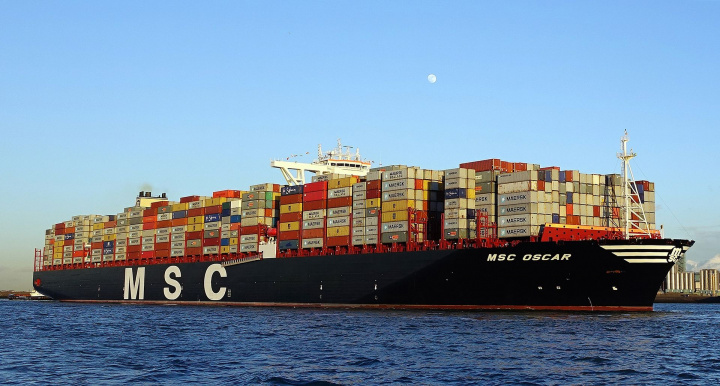 MSC Zoe is a sister ship to MSC Oscar (pictured).