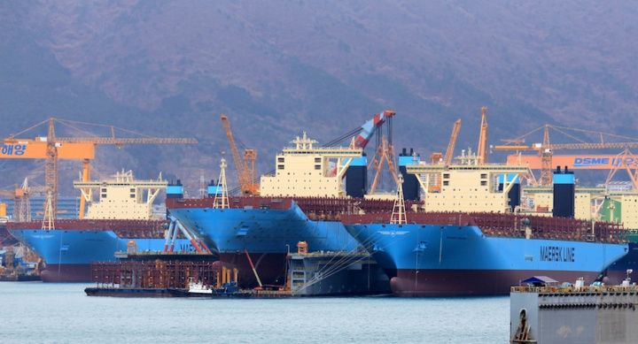 Maersk Line is reportedly finalising an order for up 11 mega container ships of 20,000-teu capacity