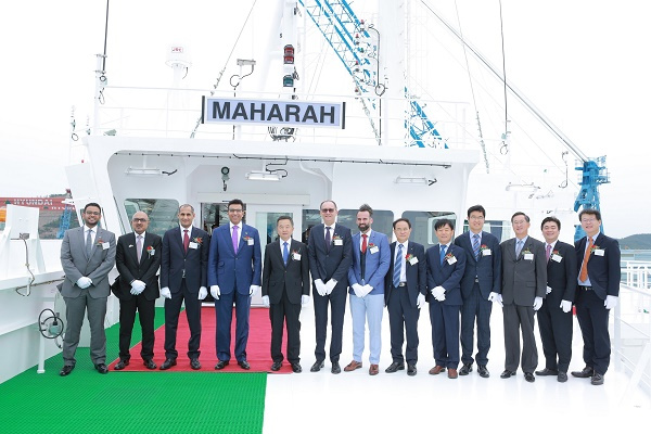 'MAHARAH' was handed over to Bahri during a delivery ceremony held at HHI's Mokpo shipyard in South Jeolla Province, South Korea.
