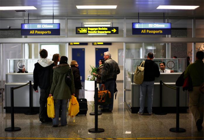 The passport desk at Malta International (Ben Borg Cardona/AFP/Getty Images).