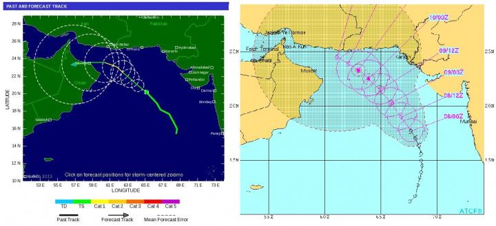 Ashobaa will track westward toward Oman or north toward Pakistan over the next 36 hours.