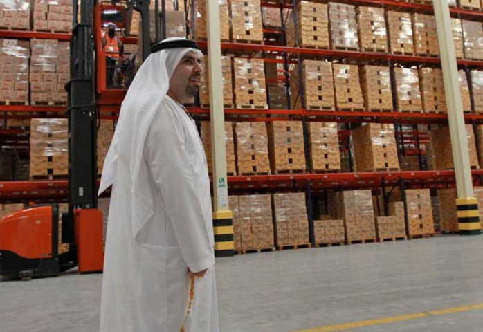 Mohammed Mohebi in the warehouse.