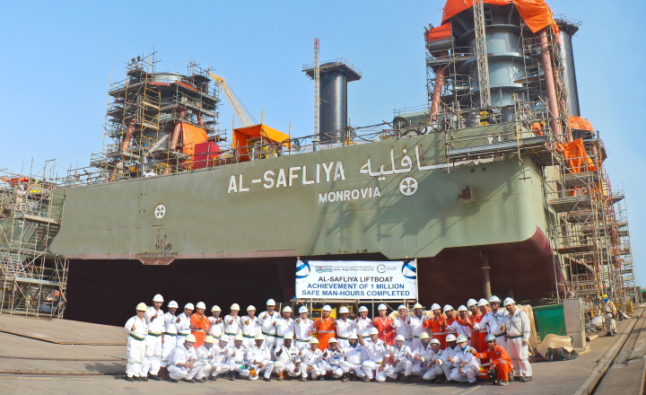 Nakilat-Keppel Offshore & Marine (N-KOM) has achieved a safety milestone of one million safe man-hours without any lost-time-incidents (LTIs).