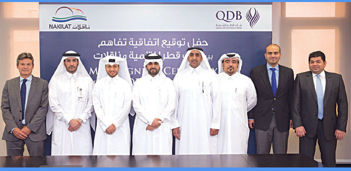Nakilat and Qatar Development Bank agreed to jointly support entrepreneurs in setting up new marine and shipyard-related companies.