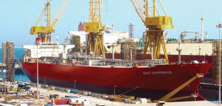 Fareast Shipmanagement's RINA-class LPG carrier Gas Commerce underwent routine drydocking repairs