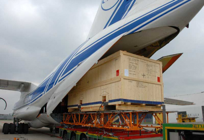The oil production unit was transported from Maastricht Airport in the Netherlands on behalf of the airline's customer Agility Projects Rotterdam.