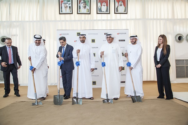 The ground-breaking ceremony was attended by Saud Abu Al Al-Shawareb, chief operating officer of Dubai Industrial Park, Abdulla Belhoul, CEO of Dubai Wholesale City and Oussama Choucair, CEO, Patchi UAE.