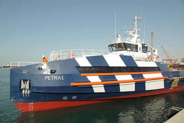 Built by UAE- based Triangle Shipyard, the new state-of-the-art 45-meter Fast Offshore Support Vessel is designed by leading UK designers Camarc