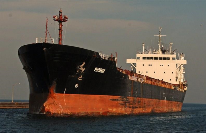 The bulker Phoenix, famous in Canada where she spent more than two years under port arrest, has broken down after finally leaving port