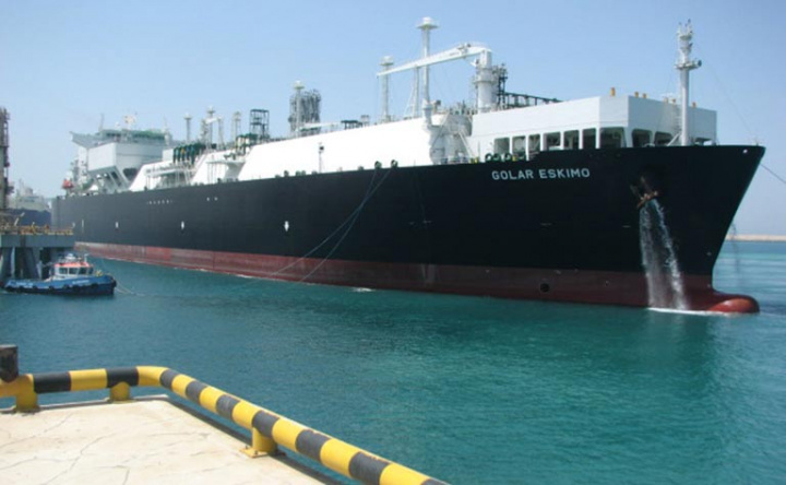 The conventional-sized cargo, was delivered by the floating storage and regasification unit (FSRU), Golar Eskimo