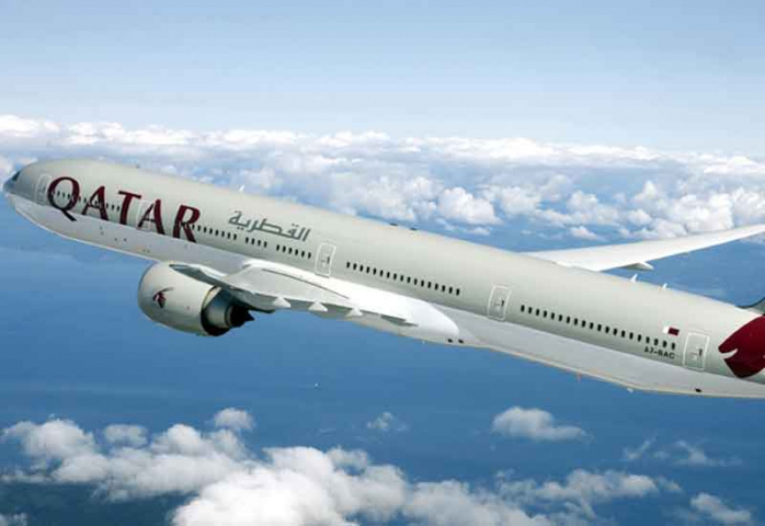 A bird hit the Qatar Airwats flight as it was about to take off.