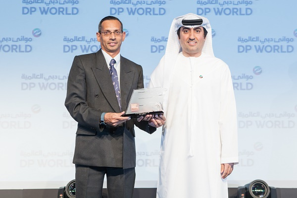 (L-R) Mr. Wallery Dcosta- General Manager-International Freight Services at RSA Logistic awarded by Mr. Mohammed Ali Ahmed, COO Of DP World.