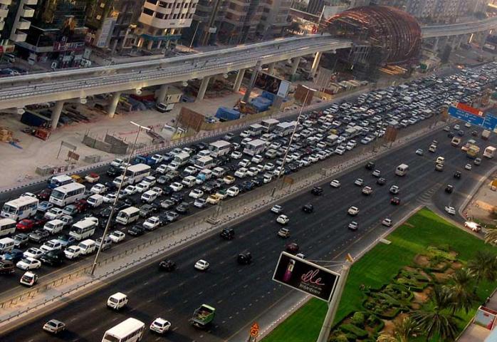 Dubai congestion.