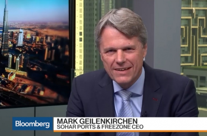"""Mark Geilenkirchen, Sohar Port and Freezone CEO appeared on """"Bloomberg Markets: Middle East""""."""