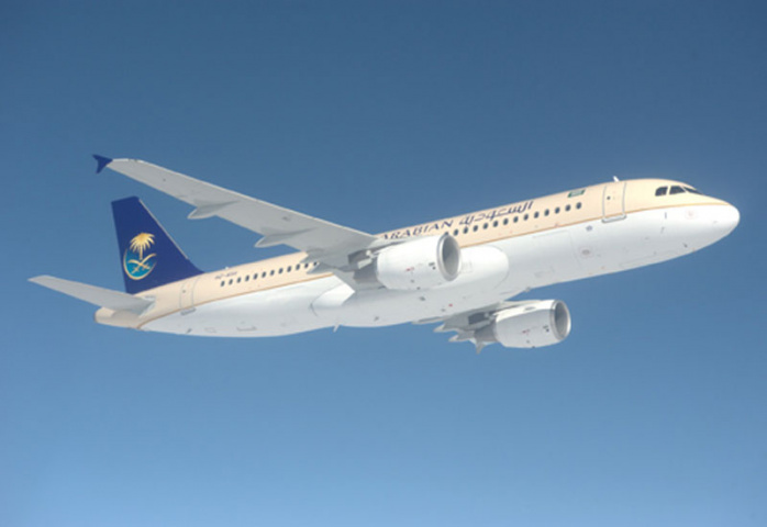 A Saudia Airlines plane.